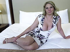 Chunky arse together with titties blonde MILF