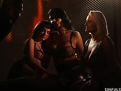 Spectacular of either sex gay orgy by candle feature starring Ania Kinski, Vinna Reed and Angel Wicky