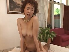 Japanese cougar Kei Marimura with on the mark tits gets fucked good