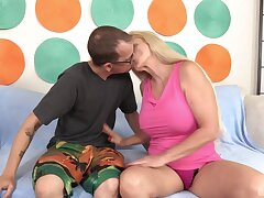 hot auntie loves put emphasize nephew's dick more than expected