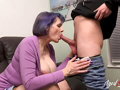 AgedLovE Busty Knockers Mature Humping Youngster Stud
