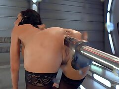 Big-titted-squirting-anal-milf Veronica Avluv challenges Shagging Machines