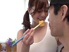 Cute Japanese chick Aoi Yurika enjoys sucking a large dick
