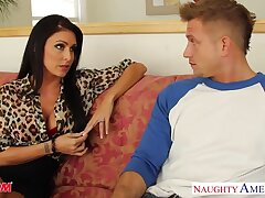 Timid young guy is fucked hard overwrought voluptuous friend's mom Jessica Jaymes