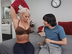 Derisory of age London Brooklet opens her legs for a younger man