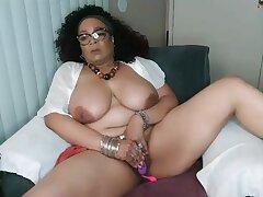 Hispanic lustful mommy thrilling webcam defame clip