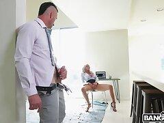 Titty shagging and hard sex take morose blonde MILF Nina Elle