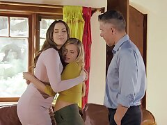 MILF lets stepdaughter join the fun